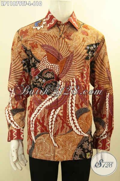 Batik Solo Kemeja Tangan Panjang Halus Dan Mewah, Busana Batik Premium Tulis Asli Di Lengkapi Lapisan Furing, Pria Tampil Gagah Dan Berkelas