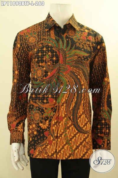 Baju Batik Formal Tangan Panjang Elegan, Pakaian Batik Solo Full Furing Kwalitas Istimewa Motif Bagus Kombinasi Tulis, Pas Banget Untuk Acara Resmi