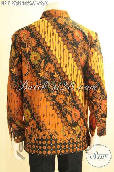 Produk Baju Batik Solo Elegan Nan Istimewa, Busana Batik Tangan Panjang Motif Berkelas Proses Kombinasi Tulis Di Lengkapi Furing, Tampil Gagah Menawan