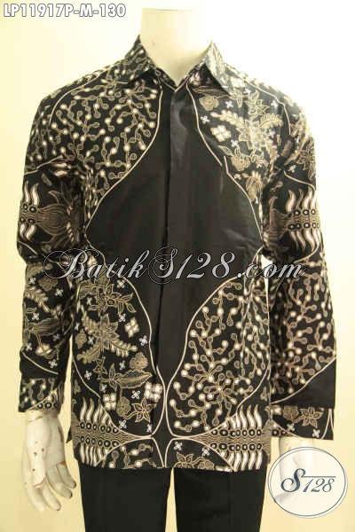 Sedia Kemeja Batik Pria Tangan Panjang Halus Warna Elegan Motif Terbaru, Produk Baju Batik Terkini Proses Printing, Cocok Untuk Acara Resmi