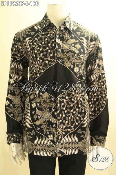 Baju Batik Formal Tangan Panjang Pria Halus Motif Terbaru, Kemeja Batik Solo Printing Desain Berkelas, Pilihan Tepat Tampil Menawan