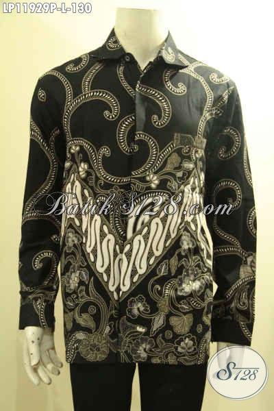 Produk Pakaian Batik Pria Terkini, Kemeja Tangan Panjang Halus Bahan Adem Motif Terbaru, Pria Tampil Gagah Berkelas Hanya 100 Ribuan Saja [LP11929P-L]