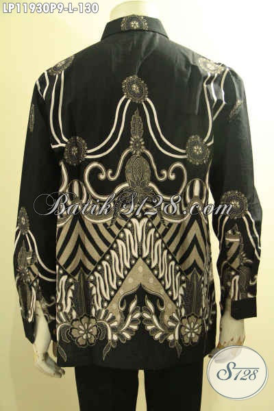 Hem Batik Solo Seragam Kerja Model Lengan Panjang, Pakaian Batik Halus Motif Elegan Proses Printing, Cocok Juga Buat Ke Pernikahan