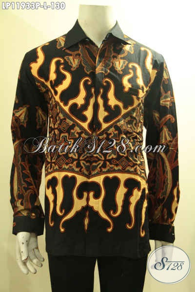 Produk Baju Batik Solo Jawa Tengah Halus Model Tangan Panjang, Kemeja Batik Nan Istimewa Halus Motif Bagus Proses Printing, Tampil Gagah Dan Tampan Maksimal