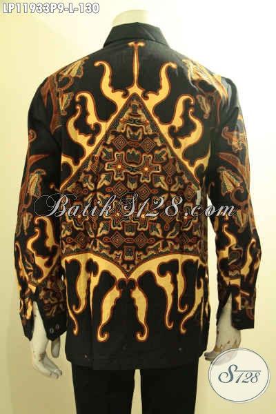 Jual Kemeja Batik Pria Terbaru, Pakaian Batik Elegan Model Tangan Panjang Motif Bagus Bahan Halus Menunjang Penampilan Lebih Istimewa [LP11933P-L]