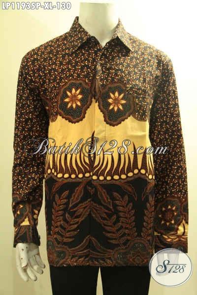 Sedia Kemeja Batik Pria Terkini, Pakaian Batik Solo Tangan Panjang Elegan Motif Mewah Proses Printing Halus Dan Nyaman Di Pakai Nagntor Dan Acara Lainnya