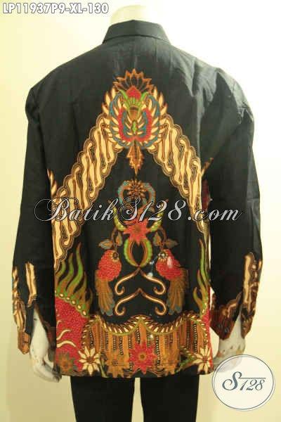 Produk Pakaian Batik Solo Tangan Panjang Halus Motif Mewah, Baju Batik Printing Untuk Pria Dewasa Tampil Tampan Berwibawa