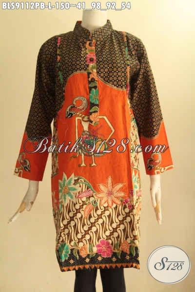 Blouse Batik Modis Desain Berkelas, Busana Batik Wanita Muda Dan Dewasa Yang Menunjang Penampilan Terlihat Istimewa Motif Bagus Bahan Halus Nyaman Di Pakai
