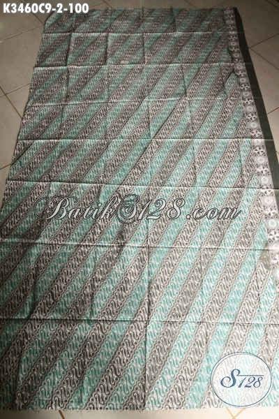 Kain Batik Motif Parang Klasik Jenis Cap, Batik Kain Khas Solo Jawa Tengah Nan Halus Bahan Busana Untuk Acara Resmi Nan Elegan Hanya 100K [K3460C-200x110cm]