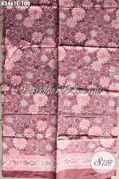 Sedia Kain Batik Modern, Kain Batik Halus Motif Kekinian Jenis Cap Bahan Pakaian Wanita Karir, Tampil Anggun Mempesona