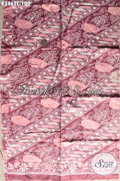 Kain Batik Elegan Proses Cap, Batik Solo Halus Warna Mewah Bahan Pakaian Pria Maupun Wanita Untuk Kerja Dan Acara Resmi, Tampil Berkelas Dan Istimewa [K3462C-200x110cm]