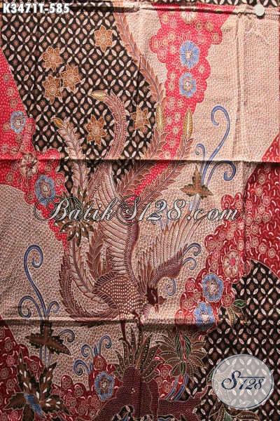 Kain Batik Mewah Bahan Baju Pria Nan Istimewa, Batik Kain Khas Jawa Tengah Tulis Asli Hadir Dengan Pola Kemeja Lengan Panjang, Cocok Untuk Baju Resmi  Berkelas [K3471T-240x110cm]