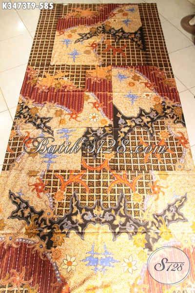 Jual Kain Batik Premium Pola Kemeja Lengan Panjang, Batik Kain Tulis Khas Solo Motif Elegan, Cocok Untuk Pakaian Rapat Kerja Dan Kondangan [K3473T-240x110cm]