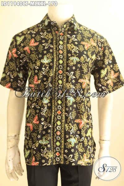 Aneka Busana Batik Pria Lengan Pendek Buat Keja Dan Hangout, Pakaian Batik Modis Jenis Cap Tulis Kwalitas Bagus Dengan Harga Terjangkau, Tampil Gagah Menawan