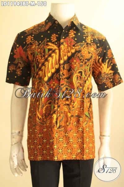 Pusat Baju Batik Solo Pria Terbaru, Jual Kemeja Batik Online Lengan Pendek Elegan Size M, Cocok Untuk Acara Santai Maupun Resmi