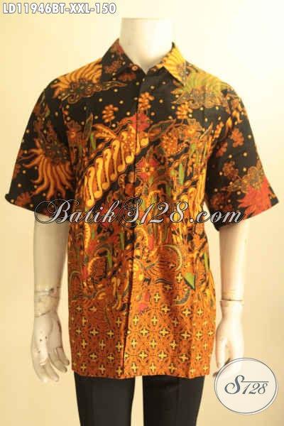 Koleksi Baju Batik Solo Lengan Pendek Modern Dengan Motif Klasik, Pakaian Batik Kekinian Bahan Halus Pilihan Tepat Tampil Gagah Menawan