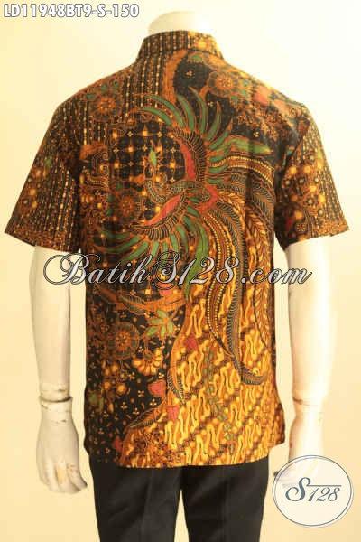 Jual Kemeja Batik Pria Masa Kini, Busana Batik Lelaki Model Lengan Pendek Kwalitas Bagus Bahan Adem  Proses Kombinasi Tulis Harga 100 Ribuan Saja