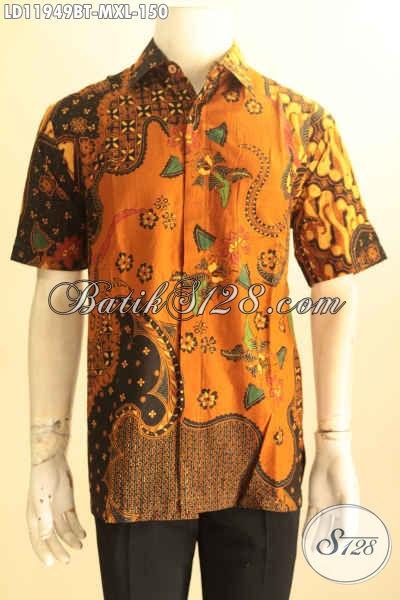 Pusat Baju Batik Solo Online Terlengkap, Sedia Kemeja Batik Istimewa Lengan Pendek Motif Bagus Bahan Adem Proses Kombinasi Tulis Motif Klasik, Penampilan Gagah Elegan