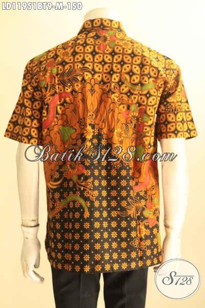 Jual Kemeja Batik Pria Model Masa Kini, Busana Batik Elegan Motif Klasik Kombinasi Tulis Asli Buatan Solo, Cocok Untuk Kerja Dan Acara Resmi