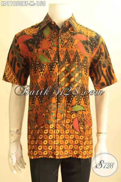 Baju Kemeja Batik Solo Asli Model Kekinian, Hem Batik Kerja Pria Muda Motif Terbaru Kombinasi Tulis Bahan Adem Yang Nyaman Di Pakai, Cocok Juga Untuk Acara Formal [LD11953BT-M]