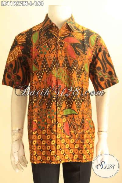 Hem Batik Solo Jawa Tengah Halus Motif Klasik, Kemeja Batik Halus Jenis Kombinasi Tulis Anti Luntur Hanya 100 Ribuan