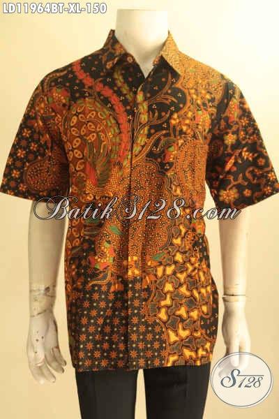 Toko Busana Batik Pria Online Koleksi Terlengkap, Sedia Kemeja Batik Lengan Pendek Size XL Bahan Halus Motif Klasik Jenis Kombinasi Tulis Hanya 100 Ribuan Saja