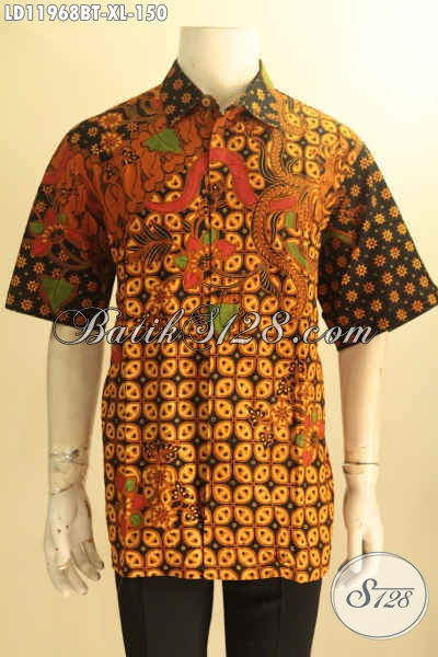 Baju Batik Berkwalitas Bagus, Kemeja Batik Solo Lengan Pendek Nan Elegan Motif Klasik Proses Kombinasi Tulis, Pria Tampil Berkelas Dan Istimewa Hanya Dengan 100 Ribuan Saja
