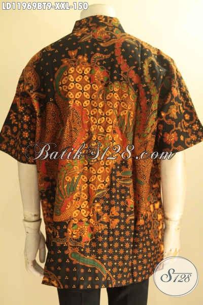 Kemeja Batik Pria Gemuk Motif Terbaru, Pakaian Batik Elegan Yang Menunjang Penampilan Lebih Berkelas, Bahan Halus Jenis Kombinasi Tulis Harga 150K
