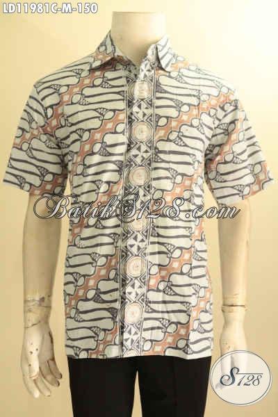 Kemeja Batik Pria Motif Klasik Warna Cerah Proses Cap, Pakaian Batik Masa Kini Yang Bikin Kawula Muda Terlihat Gagah Berkelas