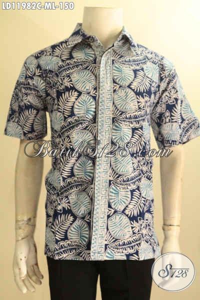 Aneka Busana Casual Pria Lengan Pendek Motif Trendy, Kemeja Batik Solo Halus Warna Keren Jenis Cap, Tampil Modis Dan Stylish