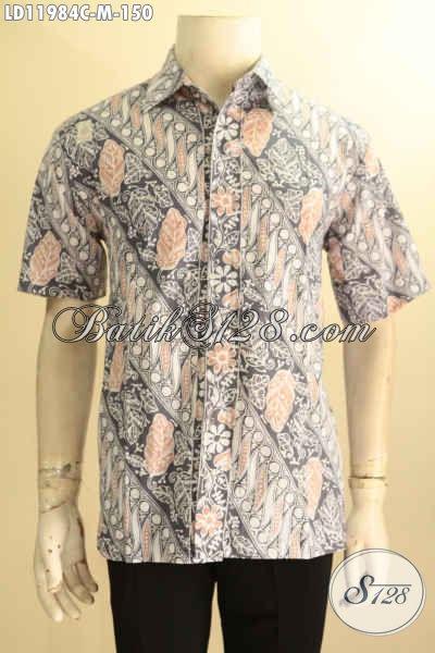 Kemeja Batik Motif Parang Jenis Cap, Busana Batik Solo Nan Istimewa Kwalitas Bagus Spesial Buat Pria Muda, Bisa Buat Ngantor Dan Kondangan