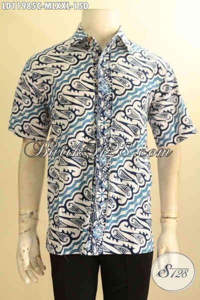Aneka Busana Batik Pria Bagus Harga Murah, Baju Batik Elegan Motif Klasik Warna Cerah Proses Cap, Cocok Untuk Acara Santai Maupun Resmi