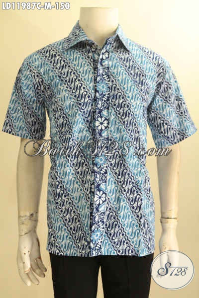 Baju Batik Pria Muda Motif Parang, Kemeja Batik Halus Warna Berkelas Proses Cap, Tampil Gagah Dan Menawan Di Setiap Moment [LD11987C-M]