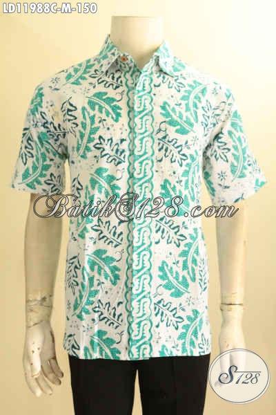 Busana Batik Pria Desain Terkini Berpadu Motif Keren Dan Trendy, Kemeja Batik Pria Muda Masa Kini Untuk Tampil Bergaya [LD11988C-M]