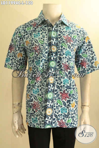Desain Busana Batik Pria Modern, Kemeja Batik Lengan Pendek Halus Motif Bagus Bahan Halus Proses Cap, Pakaian Batik Untuk Santai Dan Jalan-Jalan Tampil Stylish