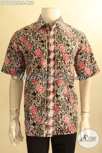Pusat Pakaian Batik Pria Online Terlengkap, Sedia Kemeja Batik Solo Halus Lengan Pendek Kekinian Motif Bagus Jenis Cap, Cocok Untuk Acara Santai Maupun Resmi Hanya 150K