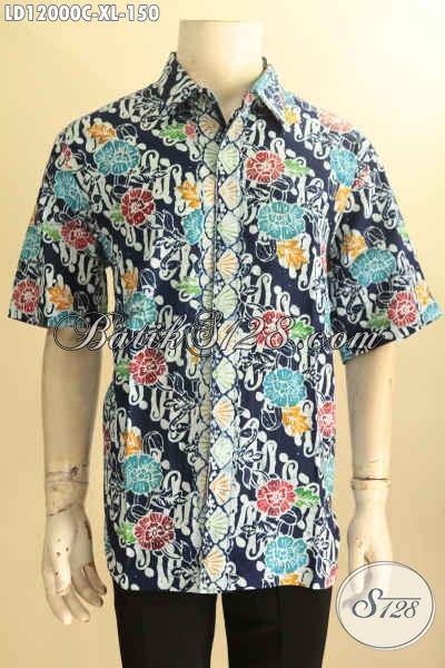 Kemeja Batik Pria Modis Motif Tren Masa Kini, Pakaian Batik Solo Jawa Tengah Nan Istimewa Yang Menunjang Penampilan Pria Lebih Trendy Dan Modis [LD12000-XL]