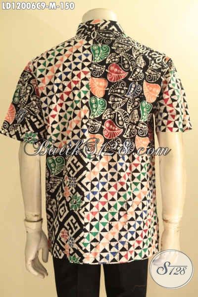 Kemeja Batik Pria Muda Motif Keren Bahan Halus Proses Cap, Pakaian Batik Solo Tren Masa Kinji Untuk Tampil Beda Dan Stylish [LD12006C-M]
