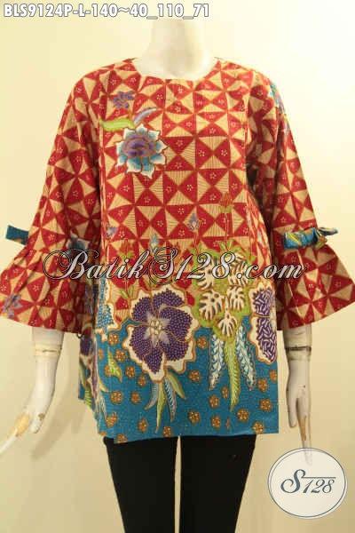 Pakaian Batik Trendy Wanita Masa Kini, Blouse Batik Solo Khas Jawa Tengah Nan Istimewa Motif Terbaru Desain Kekinian, Cocok Buat Ngantor Ataupun Jalan-Jalan