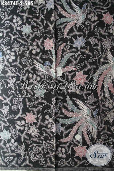 Kain Batik Elegan Motif Tebaru Jenis Tulis Bahan Busana Pria Dan Wanita Nan Mewah Berkelas, Menunjang Penampilan Lebih Sempurna [K3474T-240x110cm]