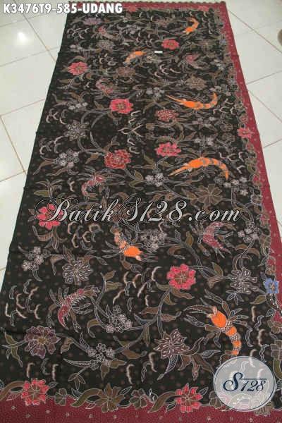 Kain Batik Halus Motif Udang, Batik Solo Istimewa Jenis Tulis Bahan Aneka Busana Untuk Acara Resmi Wanita Maupun Pria Tampil Mewah Istimewa [K3476T-240x110cm]