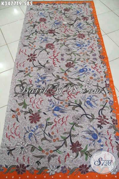 Jual Online Kain Batik Premium Khas Jawa Tengah Bahan Busana Formal Wanita Dan Pria, Batik Tulis Asli Motif Bagus Warna Berkelas, Menunjang Penampilan Berkelas