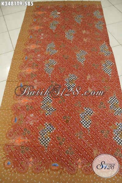 Kain Batik Bahan Busana Formal, Batik Solo Asli Jenis Tulis Motif Mewah, Bisa Untuk Pakaian Kerja Dan Acara Resmi
