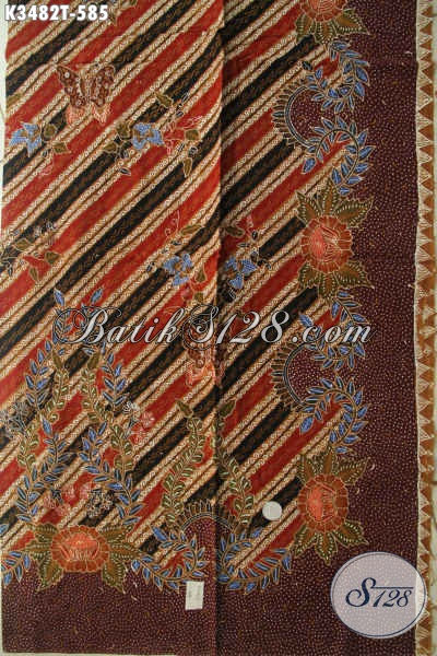 Jual Kain Batik Mewah Motif Elegan Nan Berkelas, Batik Solo Premium Bahan Busana Mewah Khas Pejabat, Menunjang Penampilan Makin Sempurna