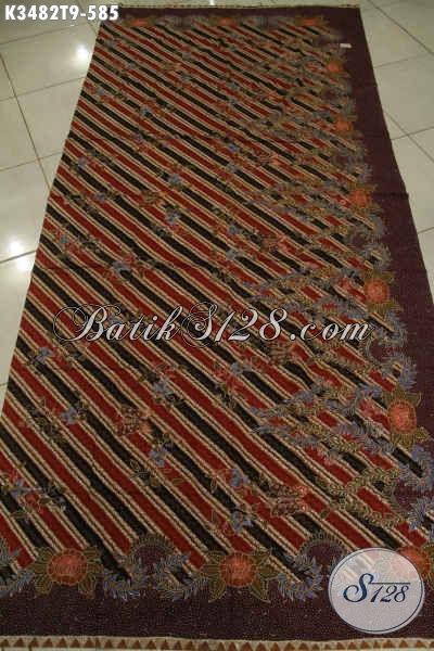 Sedia Kain Batik Premium Jenis Tulis Khas solo Jawa Tengah, Bahan Busana Formal Nan Berkelas Baik Lengan Pendek Maupun Lengan Panjang [K3482T-240x110cm]