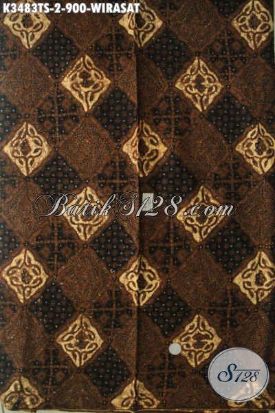 Kain Jarik Tulis Istimewa Motif Wirasat, Kain Batik Premium Khas Solo Jawa Tengah  Bahan Halus Cocok Untuk Acara Adat [K3483TS-240x110cm]