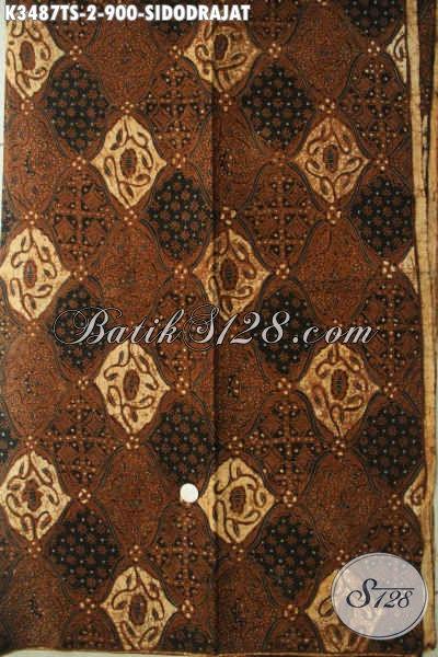 Kain Batik Mewah Mahal, Kain Jarik Batik Tulis Soga Motif Sidodrajat Istimewa Hara 900K