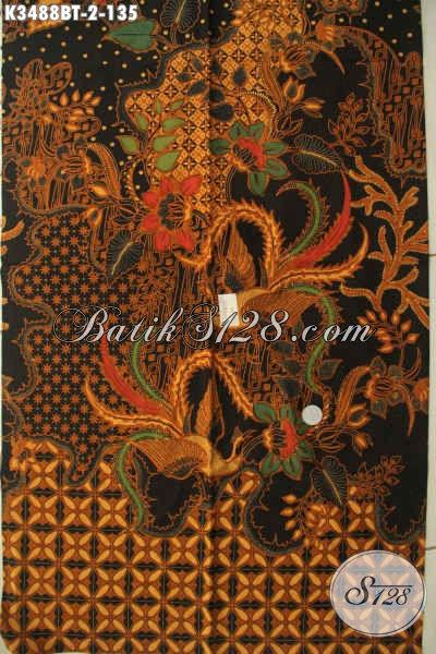 Kain Batik Bahan Busana Pria Lengan Panjang Motif Elegan, Kain Batik Jenis Kombinasi Tulis Khas Jawa Tengah, Cocok Untuk Pakaian Kerja DEan Resmi [K3488BT-240x110cm]