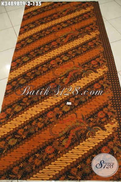 Kain Batik Motif Elegan Klasik Proses Kombinasi Tulis, Batik Solo Istimewa Bahan Busana Resmi Wanita Dan Pria Dengan Harga Terjangkau [K3489BT-240x110cm]