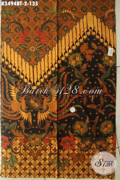 Kain Batik Elegan Bahan Busana Resmi Wanita Maupun Pria Jenis Kombinasi Tulis Motif Mewah, Pilihan Tepat Untuk Penampilan Nan Berkelas [K3494BT-240x110cm]